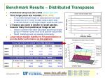 benchmark results distributed transposes