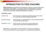 introduction to teen coaching
