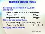 changing climatic trends