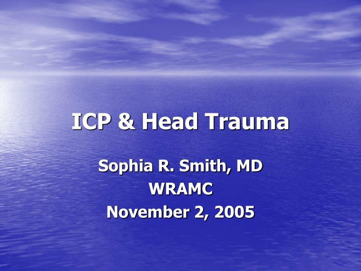 icp head trauma n.