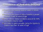 prevalence of pediatric trauma