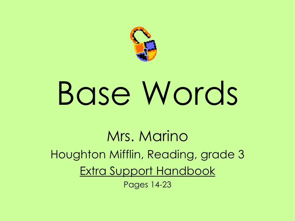 base words l.