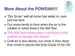 more about the powdah