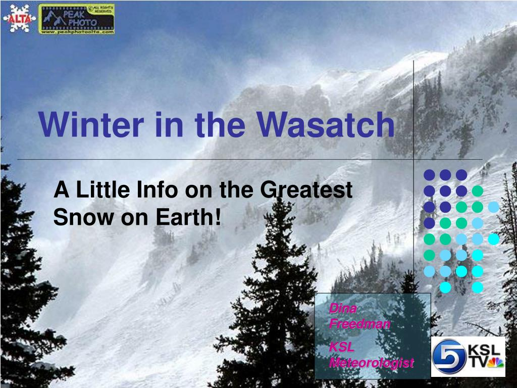 winter in the wasatch l.