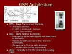 gsm architecture9