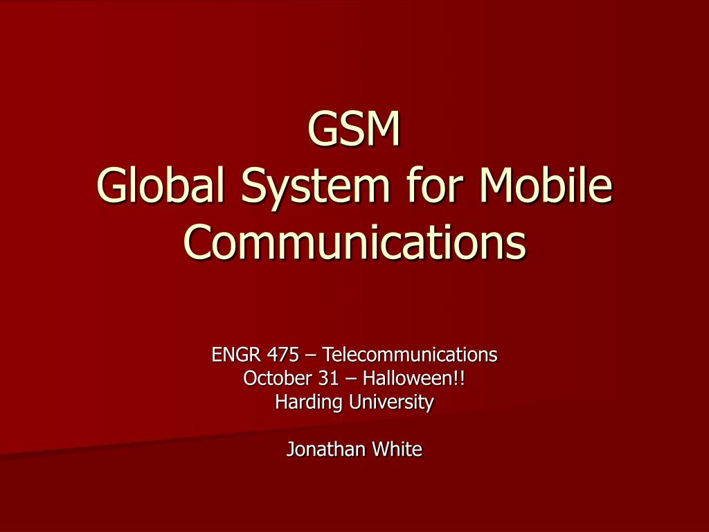 gsm global system for mobile communications l.