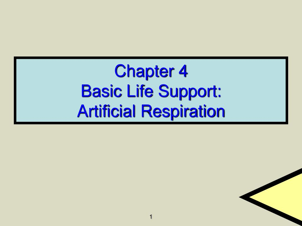 chapter 4 basic life support artificial respiration l.