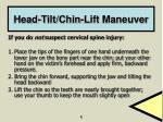 head tilt chin lift maneuver