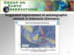 suggested improvement of seismographic network in indonesia germany