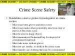 crime scene safety41