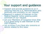 your support and guidance