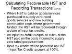 calculating recoverable hst and recording transactions cont d16