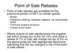 point of sale rebates