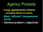 agency protests