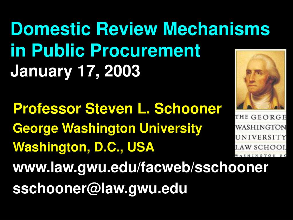 domestic review mechanisms in public procurement january 17 2003 l.