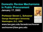domestic review mechanisms in public procurement january 17 2003