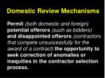 domestic review mechanisms
