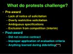 what do protests challenge