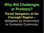 why bid challenges or protests