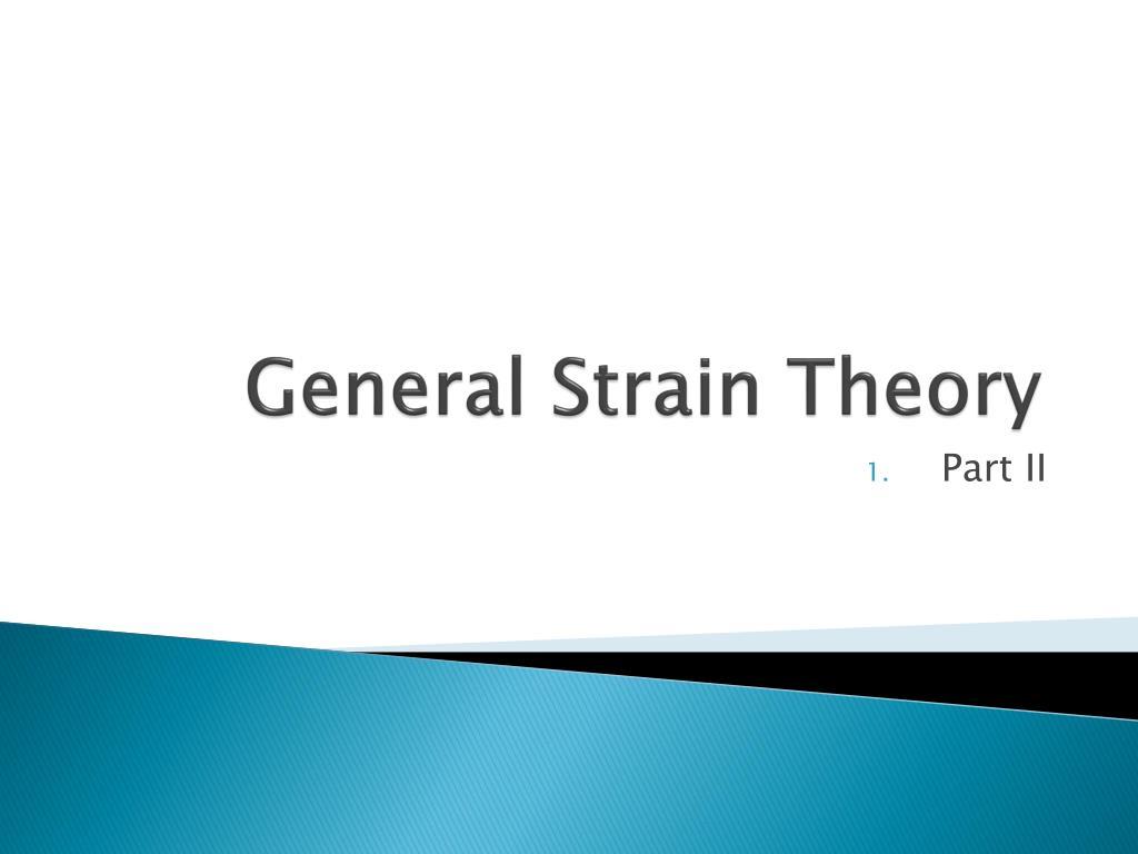 general strain theory l.