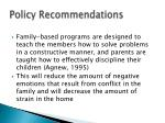 policy recommendations36