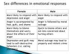 sex differences in emotional responses