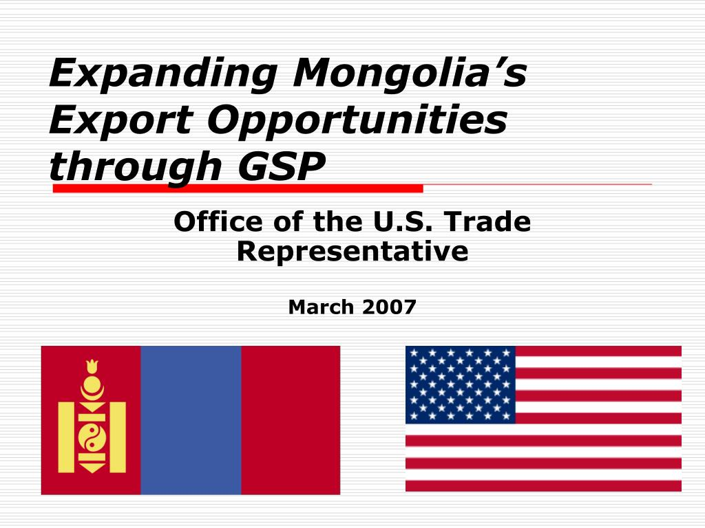 expanding mongolia s export opportunities through gsp l.