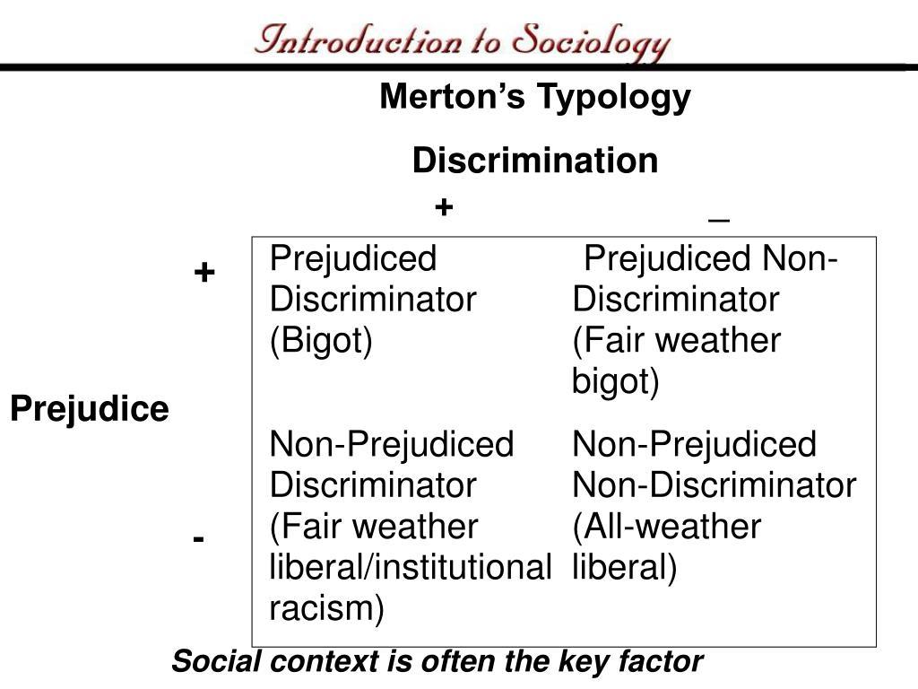 Merton's Typology