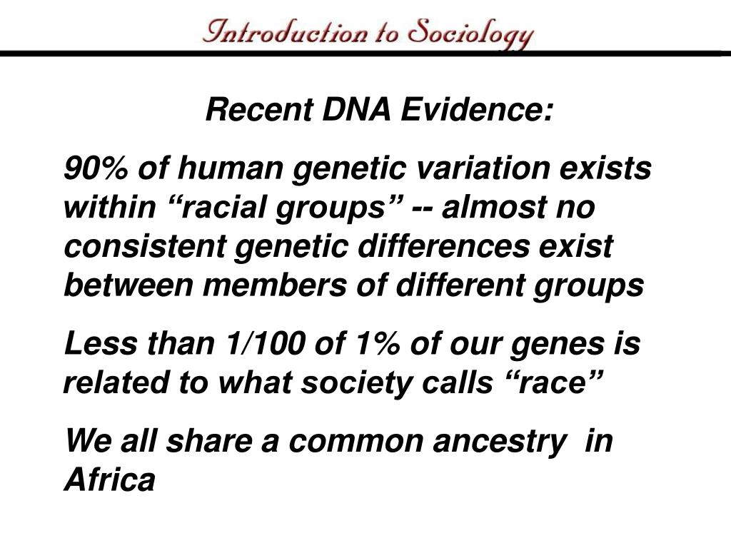 Recent DNA Evidence: