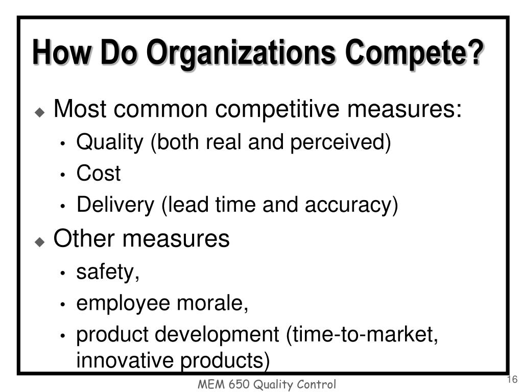 How Do Organizations Compete?