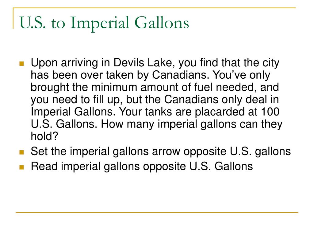 U.S. to Imperial Gallons