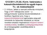1212 2011 vi 28 korm hat rozata a katasztr fav delemr l s egy b kapcs tv ek m dos t s r l