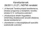 kerettantervek 26 2011 v 27 nefmi rendelet