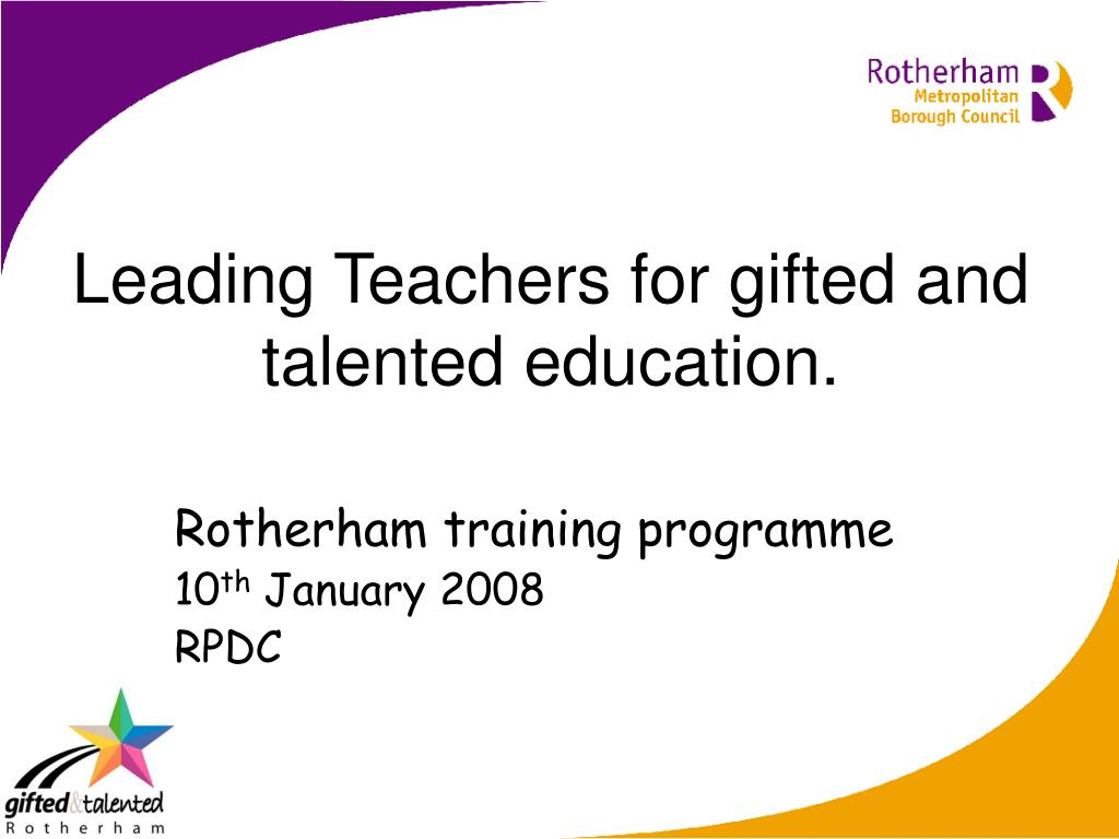 leading teachers for gifted and talented education l.