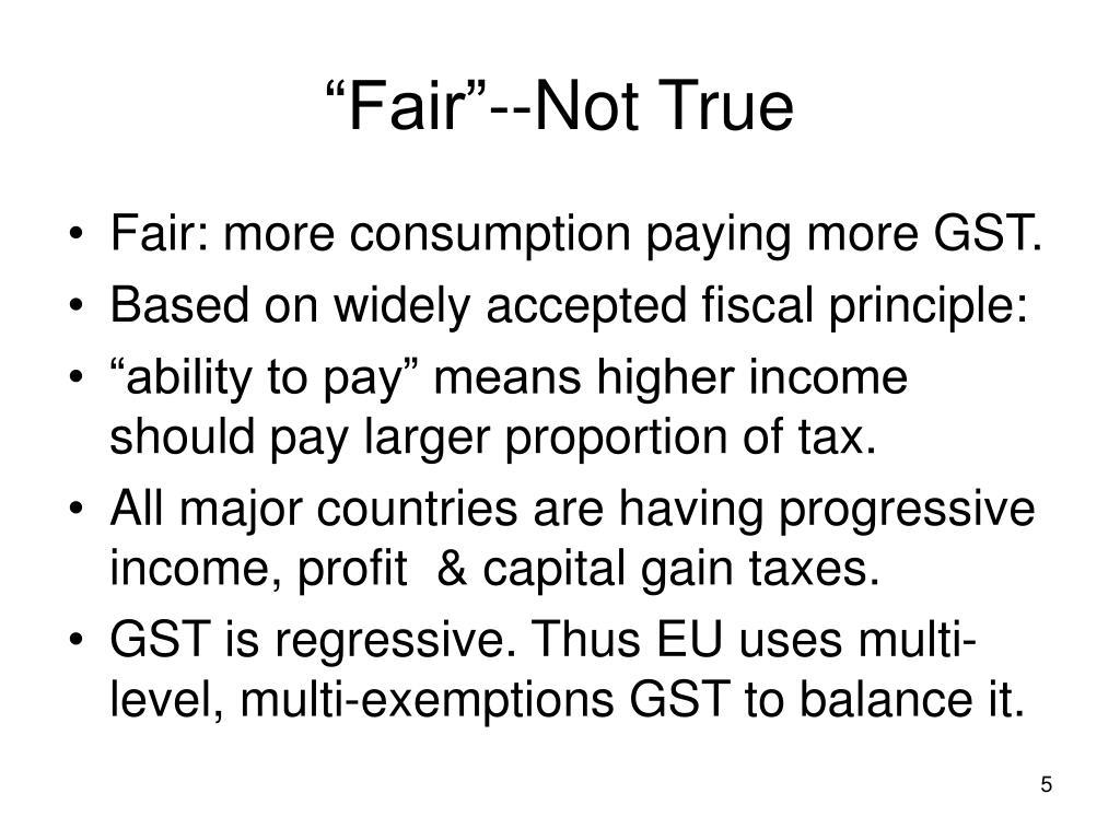 """""""Fair""""--Not True"""