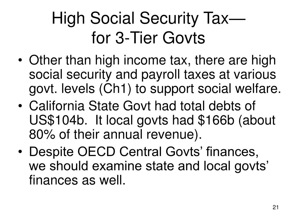 High Social Security Tax—