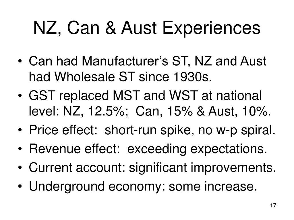 NZ, Can & Aust Experiences