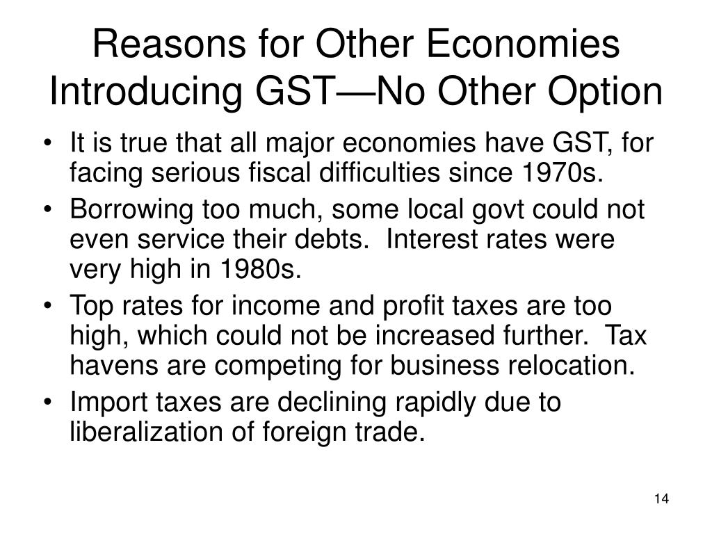 Reasons for Other Economies