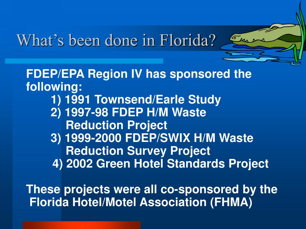 What's been done in Florida?