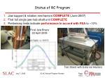 status of rc program