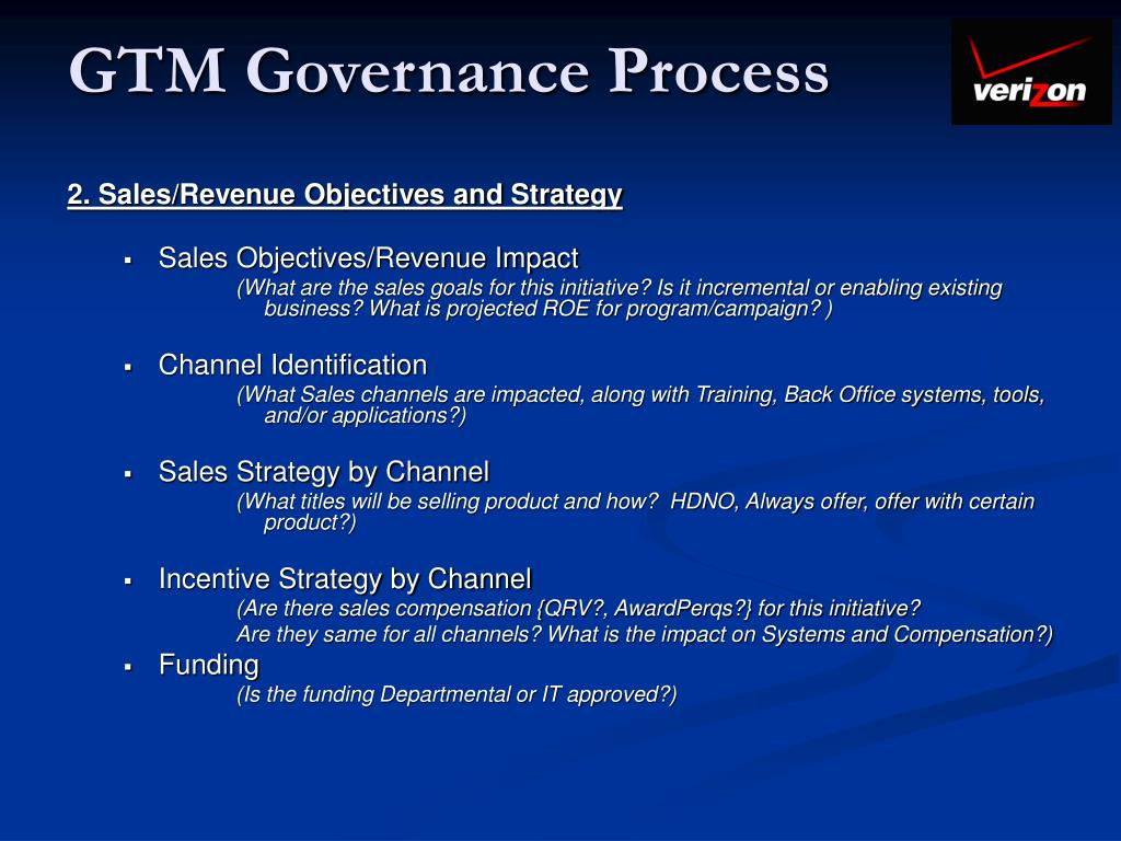 GTM Governance Process