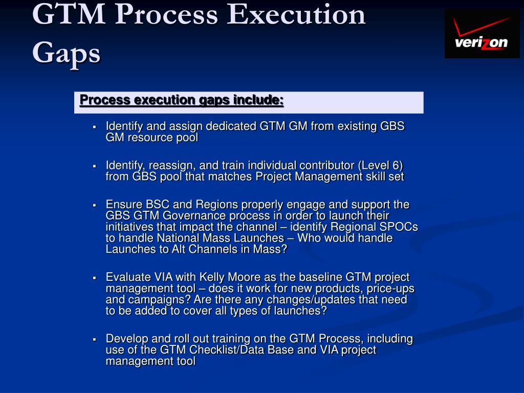 GTM Process Execution Gaps