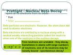 preflight nuclear beta decay