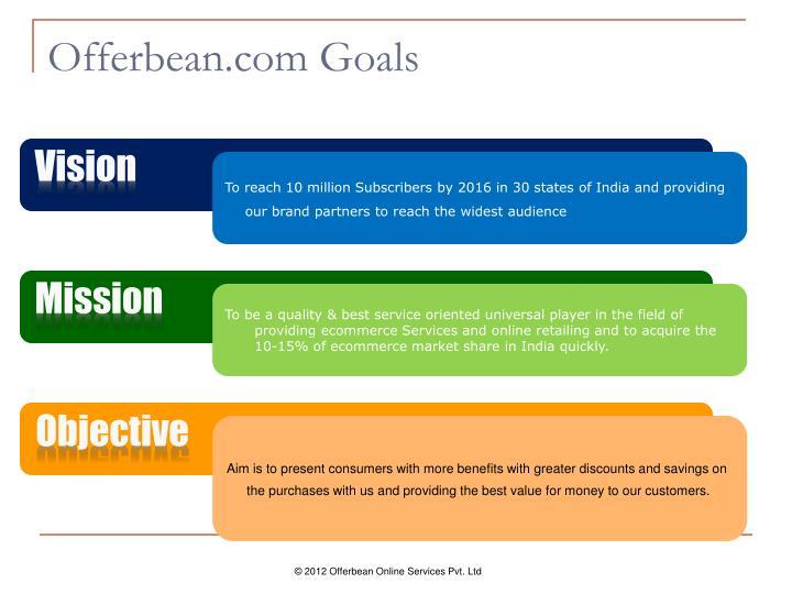 Offerbean com goals