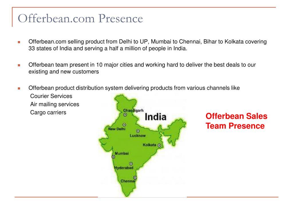Offerbean.com Presence