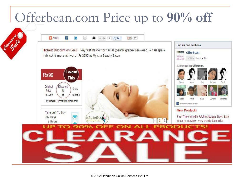 Offerbean.com Price up to