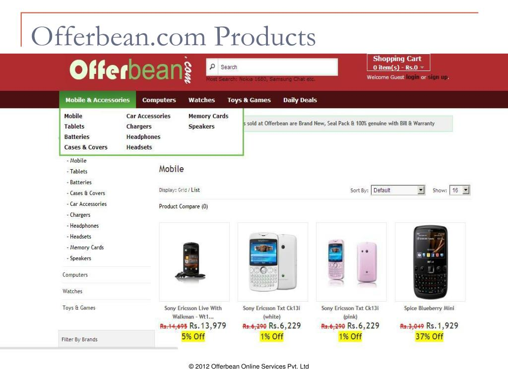 Offerbean.com Products