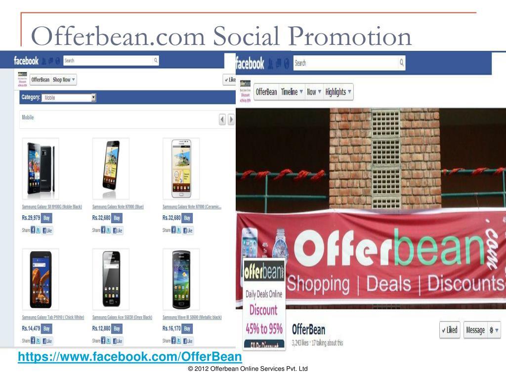 Offerbean.com Social Promotion