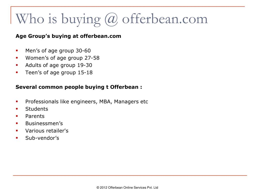 Who is buying @ offerbean.com
