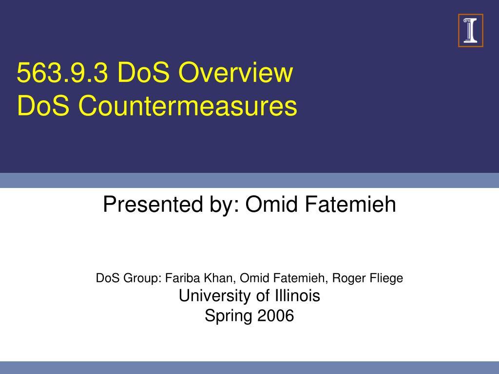 563 9 3 dos overview dos countermeasures